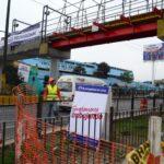 Carretera Central: Instalan puente peatonal provisional
