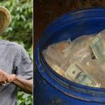 Agricultor encontró US$ 600 millones de Pablo Escobar