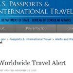 EEUU lanza alerta mundial de viaje por amenazas terroristas