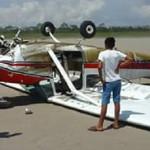 Loreto: avioneta aterriza en una playa del Ucayali y todos se salvan