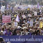 España: Miles en marcha muestran repulsa contra violencia machista