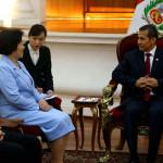 Humala se reúne con la jefa del Frente Unido del PC de China