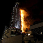 Infierno en la torre: Explosiones tras incendio de rescacielos en Dubái