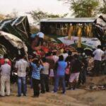 Sullana: Choque deja un muerto y 18 heridos