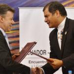 Colombia: Santos y Correa celebrarán encuentro binacional en Cali