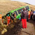 Puno: 32 heridos deja como saldo despiste de minibús