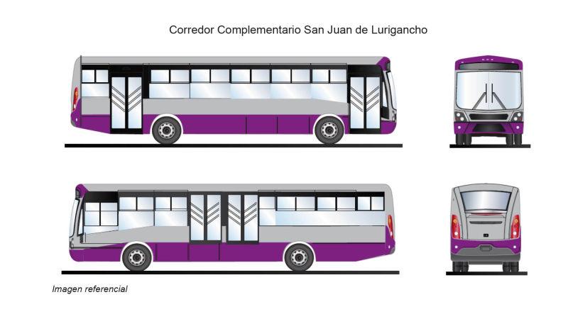 Corredor Complementario San Juan de Lurigancho Morado