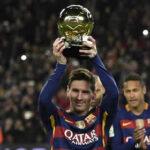Lionel Messi ofreció su quinto Balón de Oro a la afición del Barcelona