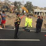 Accidente deja un muerto y gran congestión vehicular en Panamerica Sur