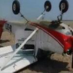 Cañete: Avioneta vuelca en aterrizaje forzoso y deja 2 heridos leves