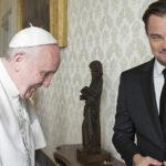 Leonardo DiCaprio y el Papa Francisco reunidos en El Vaticano