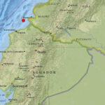 Ecuador: Sismo de magnitud 5.4 sacude provincia costera Esmeraldas