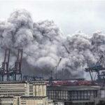 Brasil: Fuga de gas de grandes proporciones en puerto de Santos