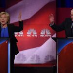 Clinton y Sanders chocan en último debate antes de las primarias