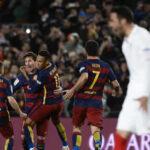 Liga BBVA: Barcelona gana 2-1 a Sevilla y saca a Real Madrid 12 puntos