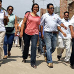 "Verónika Mendoza inicia ""La ruta del agua"" en Pachacútec"