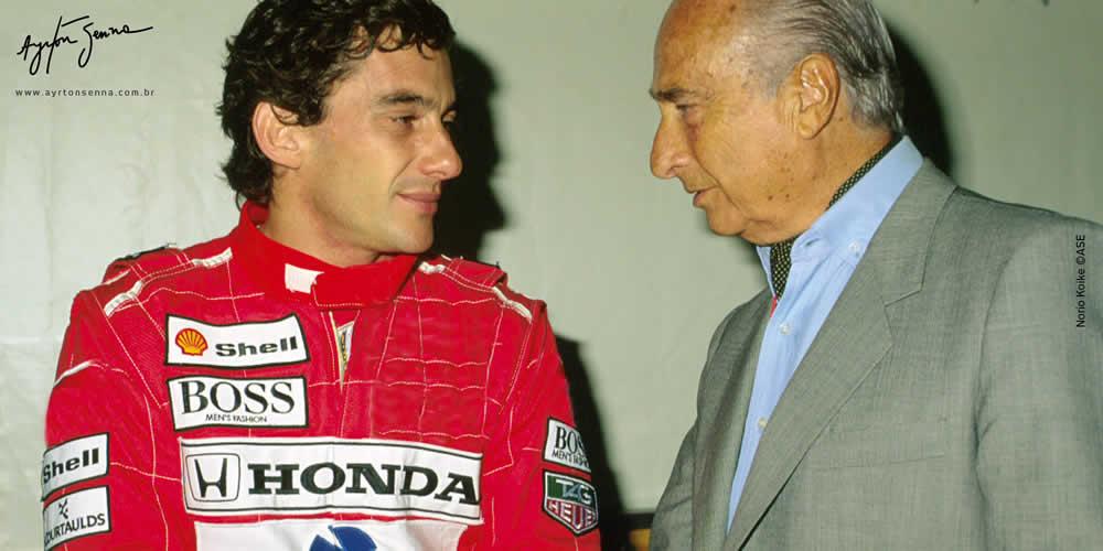 ayrton senna-JM Fangio