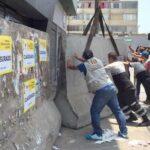 La Victoria: Clausuran discoteca con bloques de cemento