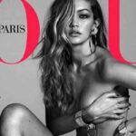 Instagram: Gigi Hadid desnuda en portada de Vogue París