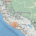 Sismo de magnitud 5.7 en sur peruano se produce en el mar