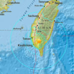 EEUU: Terremoto de magnitud 6.4 sacude el sur de Taiwán