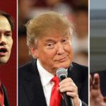 EEUU: Donald Trump cae 10 puntos y empata con Cruz y Rubio en sondeo