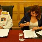 Conabi y CCFFAA firman convenio para luchar contra corrupción y crimen organizado