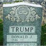EEUU: Aparece misteriosa lápida con el nombre de Donald Trump