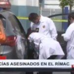 Rímac y Breña: 'Marcas' asesinan a dos policías  (VIDEO)