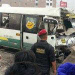 Couster del Chosicano provocó cuádruple choque en Huaycán (VÏDEO)