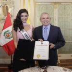 Miss Universo nos visita y mañana será jurado del concurso Miss Perú