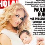 Paulina Rubio posa con su nuevo bebé en portada de ¡Hola!