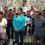 Rinden homenaje a mártires de las luchas de los trabajadores