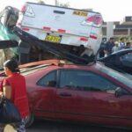 Huaycán: 'El Chosicano' causa cuádruple choque