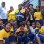 La Victoria: Niños del Cerro El Pino celebraron Día de la Tierra