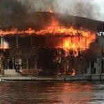 Dos estadounidenses mueren al incendiarse cruceroen río Amazonas