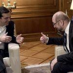 """Schulz apoya a Tsipras de finalizar negociaciones """"cuanto antes"""""""