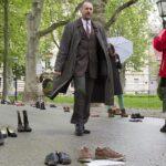 """""""Protesta de zapatos"""" en Zagreb contra el paro y emigración"""