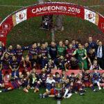 Barcelona campeón de la Copa del Rey al ganar 2-0 a Sevilla