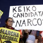 """Opositores a Keiko Fujimori protestan en Lima contra la """"narcopolítica"""""""