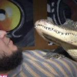 Mexicano sorprende al mundo por tener como mascota a un caimán [VÍDEO]