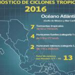 Meteorólogos prevén 30 ciclones en océanos Atlántico y Pacífico el 2016