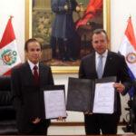 Perú y Paraguay fortalecen cooperación en materias de seguridad y defensa