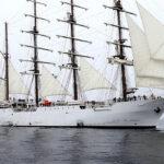 El BAP Unión el mayor buque escuela a vela de América Latina prueba su navegabilidad