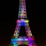 Torre Eiffel se iluminará hoy con los colores de la bandera del arcoíris