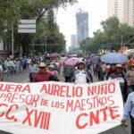 México Comisión de DDHH reprueba violencia en marchas de maestros