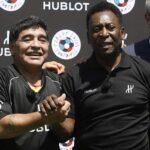 Maradona y Pelé se amistan y lanzan críticas a Lionel Messi