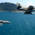 Dos cazas de la Marina de Brasil chocan en el aire