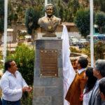 Presidente Humala develó busto en su honor en tierra natal de su padre