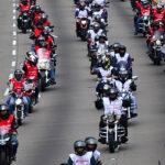Más de 4 mil motociclistas formaron bandera peruana de 5 Km